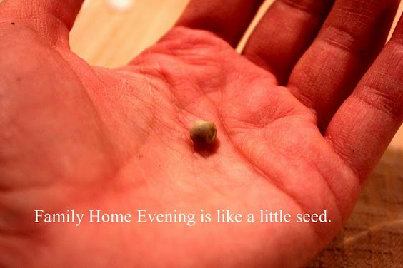 Family Home Evening is like a Little Seed