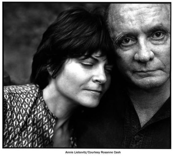 Johnny Cash and Rosanne Cash (daughter)