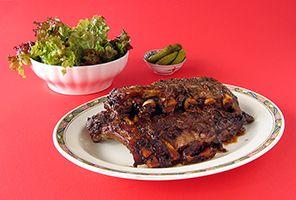 SOSCuisine: Côtes de porc à la paysanne [mijoteuse] : Ces côtes de porc délicieuses et tendres sont faibles en sucre mais riches en saveur.