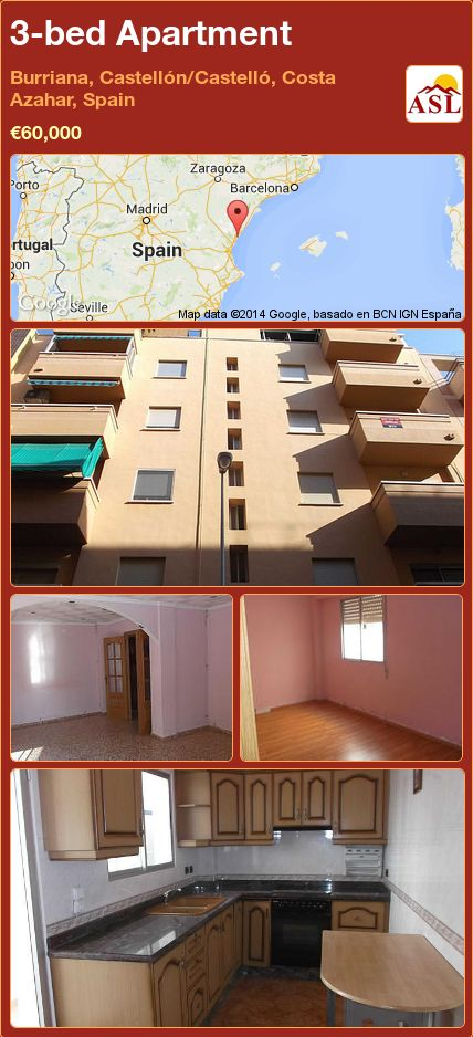 3-bed Apartment in Burriana, Castellón/Castelló, Costa Azahar, Spain ►€60,000 #PropertyForSaleInSpain