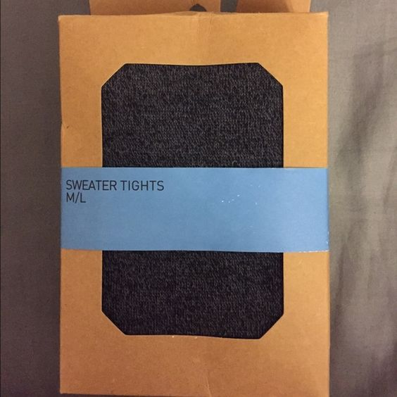 Urban Outfitters | sweater tights A girl can never have enough tights anytime of the year  charcoal gray | 85% Acrylic 10% Nylon 5% Spandex | Brand New (in original packaging) Urban Outfitters Accessories Hosiery & Socks