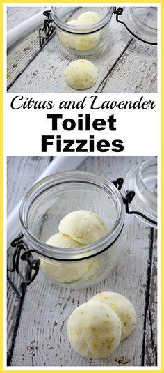 DIY Citrus and Lavender Toilet Fizzies