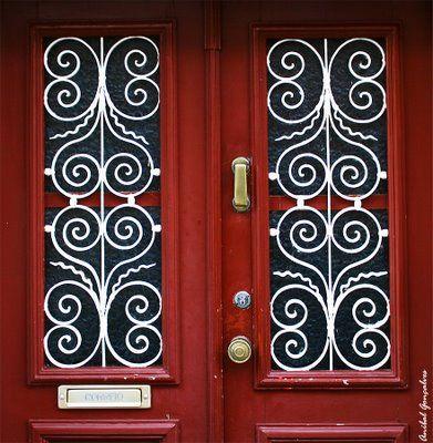 love these: Doors Handles, Design Ideas, Quilting Design, Iron Work, Iron Doors, Window Insert, Door Protection