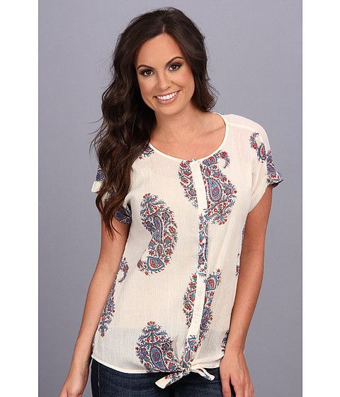 Lucky Brand Paisley Tie Front Top...also just bought this one and it is super cute and comfy