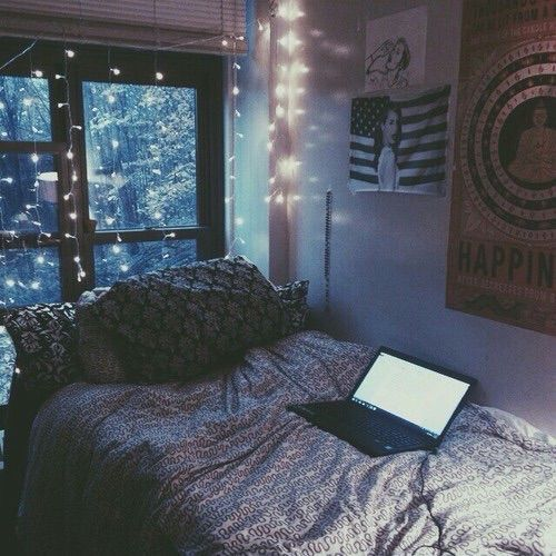 Bedroom Diy Fairy Lights Laptop Room Decor Tumblr Room