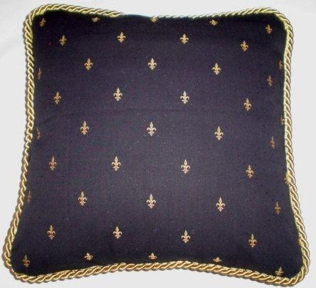 French Country Romantic Cottage Pillow Paris Bistro Black Fleur De Lis. $45.99, via Etsy.