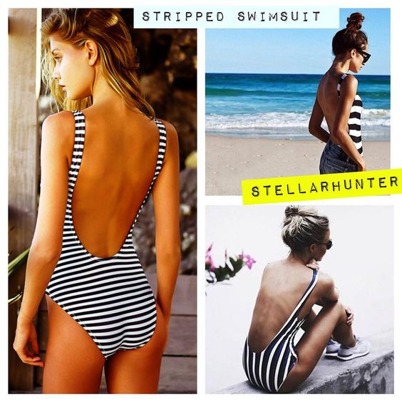 """TRAJE DE BAÑO A RAYAS! #stellarhunter #trendy #musthave #stripped #swimsuit #fashion #vogue #summer"""