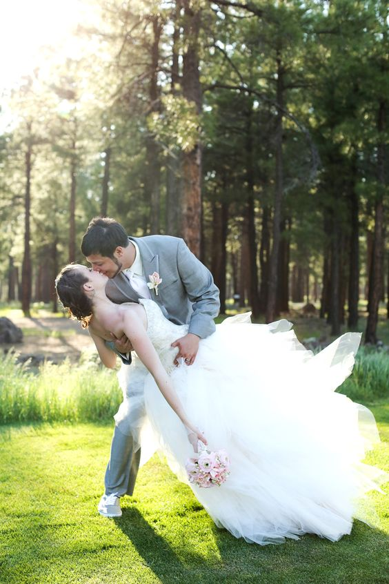 Bride and Groom at Forest Highlands in Flagstaff, AZ