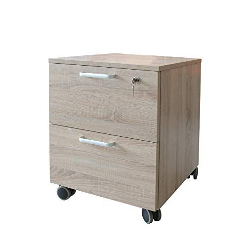Caesar Hardware 2 Drawer Wood Mobile File Cabinet With With Lock And Wheels Legal Letter Size Natu Filing Cabinet Mobile File Cabinet Locking Storage Cabinet