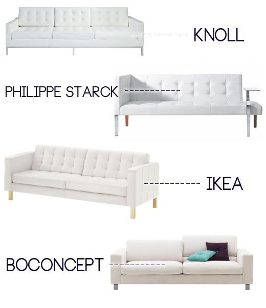 Im actually considering a white leather couch and the Ikea