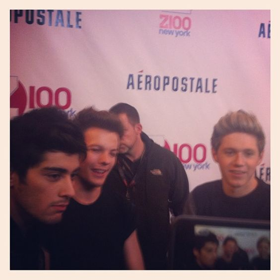 Zayn, Louis and Niall on the Red Carpet for Jingle Ball, 7.12.12. Photo by twistmag