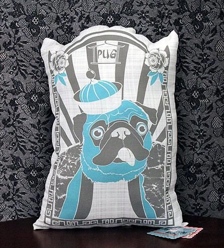 Pug Pillow - by Perpetually Yours Pets ($32)