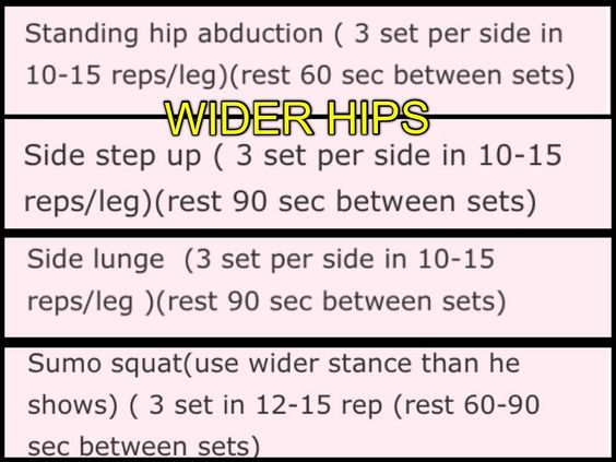 Wider hips: Body Workouts, Wider Hips, Hip Exercise, Curves Health, Hips Don T, Booty Exercises, Works Outs