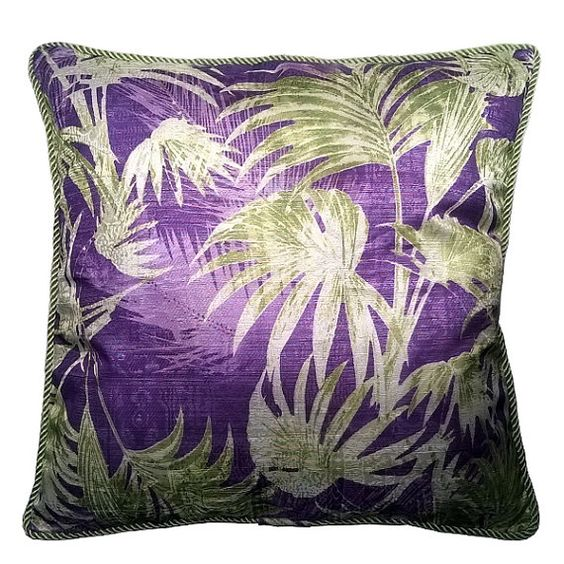 Funda cojín textura tropical / Tropical texture por YSAmbiances
