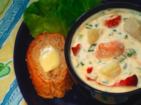 Seafood Chowder from dinnertool.com (modify it)