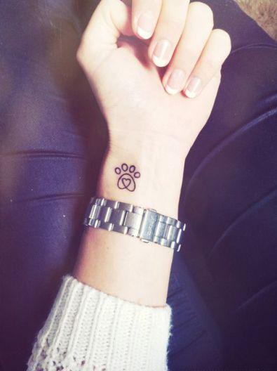 paw print tattoo 28: