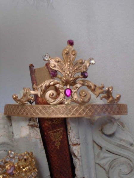 Antique French Pink Jeweled Fleur de Lis by ParisPanacheAntiques, $425.00