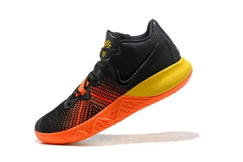 New Nike Kyrie Flytrap Black Orange Yellow Mens Shoes Free Shipping For Sale Kyrie Irving Shoes Irving Shoes Nike Basketball Shoes