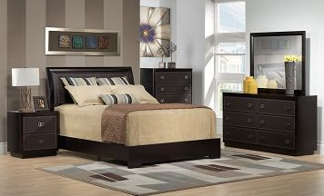 Bedroom Furniture-The Tory Collection-Tory Queen Bed