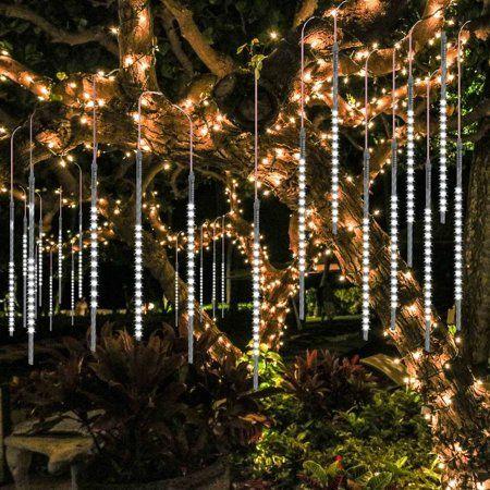 Details about  /LED Meteor Shower Lights Falling Rain Drop Christmas Garden Outdoor Decorations