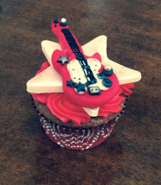 Cup cake guitarra