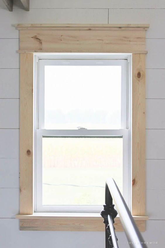 Farmhouse window trim farmhouse and window for Cottage style interior trim