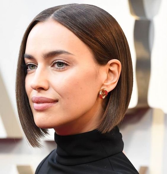 The haircut trend of 2019 comes courtesy of Russian supermodel Irina Shayk, who debuted a sleek, ultra-straight, chin-length bob at the Oscars.