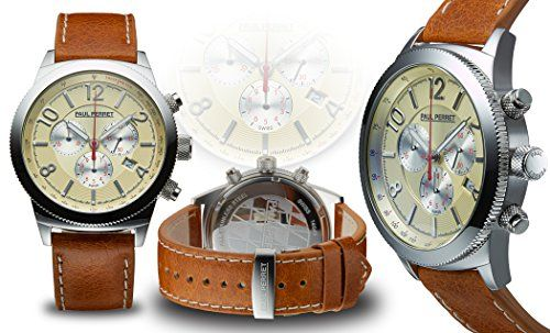 Paul Perret Swiss Chronograph Gaston Mens Watch - Jewelry For Her