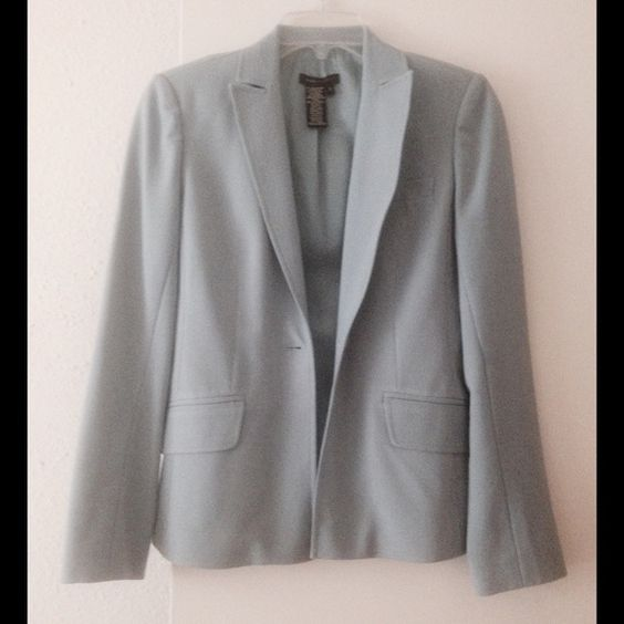 BCBGMAXAZRIA Blue Button Long Sleeve Jacket Blazer Size: 0 Color: Blue Measurements: Bust- 33 inches Waist- 25 inches Length- 22 inches BCBGMaxAzria Jackets & Coats Blazers