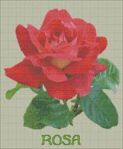 Gratis borduurpatroon rode roos