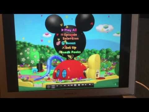 Mickey S Great Clubhouse Hunt Dvd Menu Walkthrough Youtube Club House Mickey Birthday Invitations