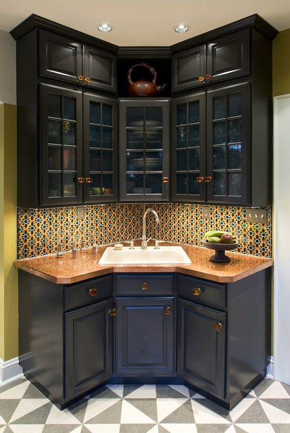 Metalworks project copper kitchen countertop basement for Dry kitchen ideas
