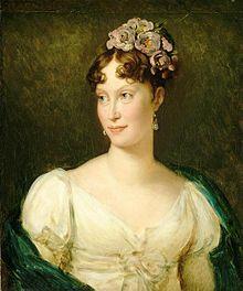 Marie-Louise von Österreich 1791 Wien - 1847 Parma, Habsburgerin, Tochter Franz II und zweite Ehefrau Napoleons I. Auf dem Wiener Kongress wurden Ihr die Herzogtümer Parma und Piacenza zugesprochen. Hier lebte sie (noch verheiratet mit Napoleon) mit dem Grafen Neipperg, 1775-1829, mit dem sie mehrere Kinder hatte. Nach Napoleons Tod heirateten die beiden. 1834 heiratete sie zum dritten Mal Graf de Bombelles, Minister am Hof von Parma.