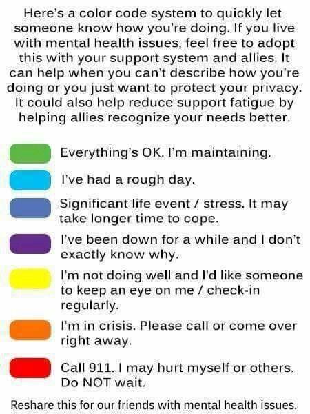 Wellness color code chart