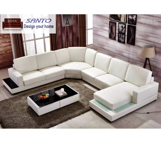 Hot Item Luxury European Style Living Room Genuine Leather L Shape Sofa Set Designer Sofa Furniture Corner L In 2020 Sofa Design Living Room Sofa Design Leather Sofa