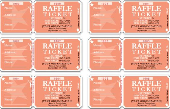 raffle ticket template,free raffle ticket template Ticket - numbered raffle ticket template free