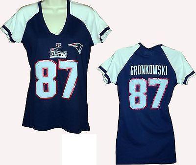 on sale ef05e 5d4e8 Women's New England Patriots 87# Rob Gronkowski breast ...
