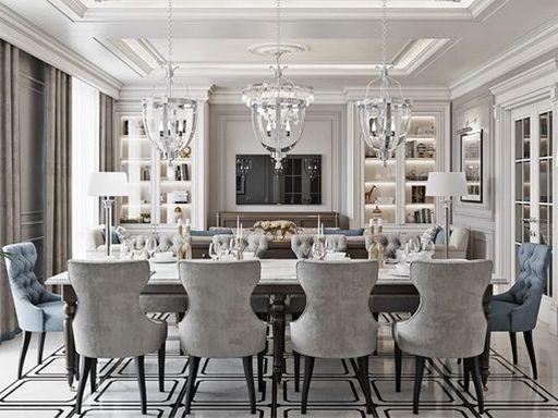 Classic Classic Dining Room Dining Room Design Luxury Dining Room Living room dining room decor