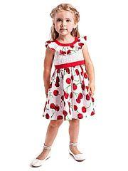 Сарафаны Карамелли.  Платье для девочек ясельной возрастной группы. Горловина и вырез спинки обработаны притачной обтачкой из отделочной ткани.Спереди по низу лифа притачная деталь из отделочной ткани которая на спинке переходит в полупояса продевающегося в шлевку и завязывающиеся в бант.