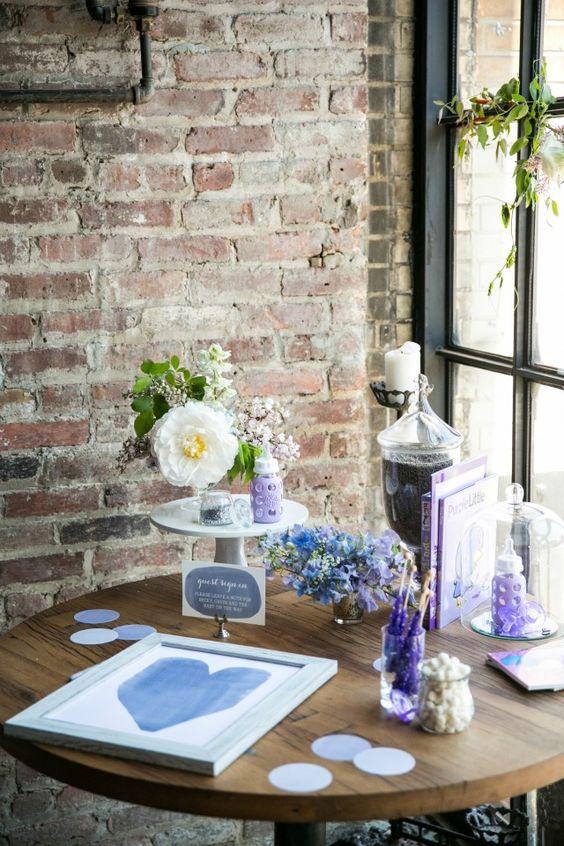 Inside Rebecca Minkoff's beautiful lavender baby shower! Decor from @Minted. #babyshower #lavender