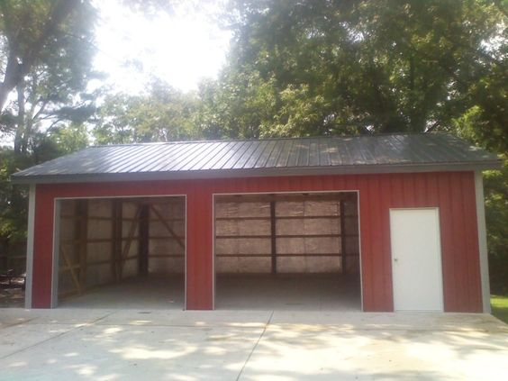 Post Frame Garage - 24x32x10  www.nationalbarn.com