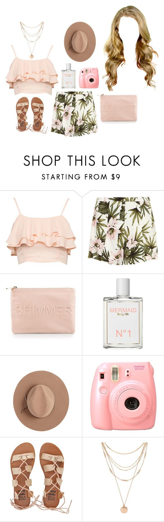 """""""Untitled #1129"""" by rachel-rentz ❤ liked on Polyvore featuring Miss Selfridge, Calypso Private Label, Billabong and Forever 21"""