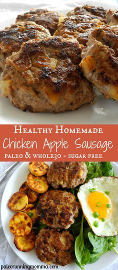 Easy Homemade Chicken Apple Sausage (Paleo & Whole30)