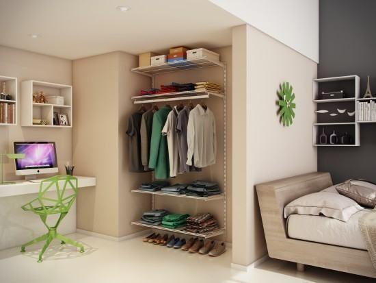 Gross Klein Und Organisiert Organisieren Kleiderschrank Planen Dekoration