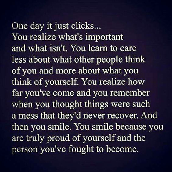 Such a powerful quote!! Such truth... One day it all just clicks!!!