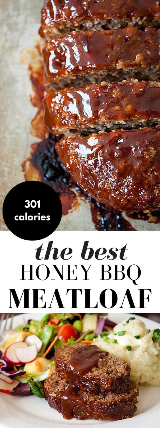 Honey Barbecue Meatloaf Recipe! This meatloaf recipe is made with bbq sauce and honey for added smokiness, a little sweetness, and moisture. It's everyone's favorite comfort food!:
