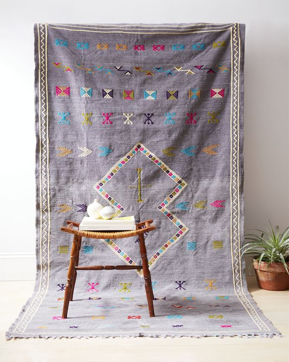 Proof that a vintage Moroccan rug can always make the room!