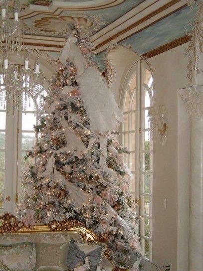 Piume, nastri e palline di Natale: