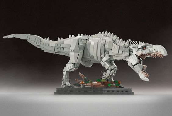 This Henry Wu's creation is a hybrid of Tyrannosaurus rex, Giganotosaurus, Majungasaurus, Carnotaurus, Rugops, Velociraptor, Cuttlefish, Tree frog and unspecified number of modern animals.  Set includes about 700 Lego bricks, the giant alone ~600. More images and information coming soon so keep checking back regularly for updates. If you love dinosaurs or you are fan of the Jurassic World movie, please add your support. Thanks!
