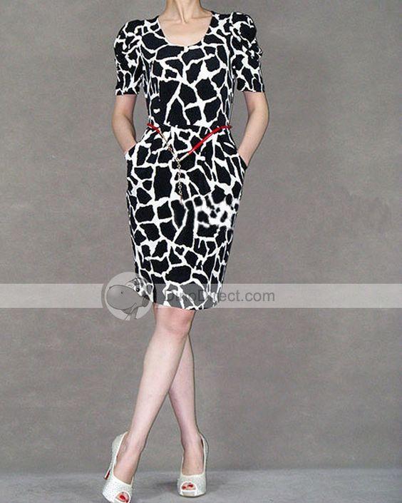 Vestido. Estou comecando a gostar de estampas de animais. O modelo do vestido eh super bonito!